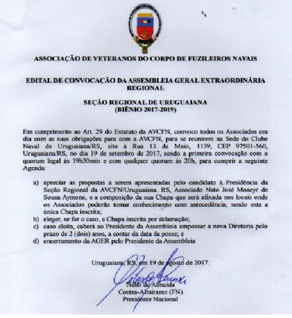 edital sr uruguaiana