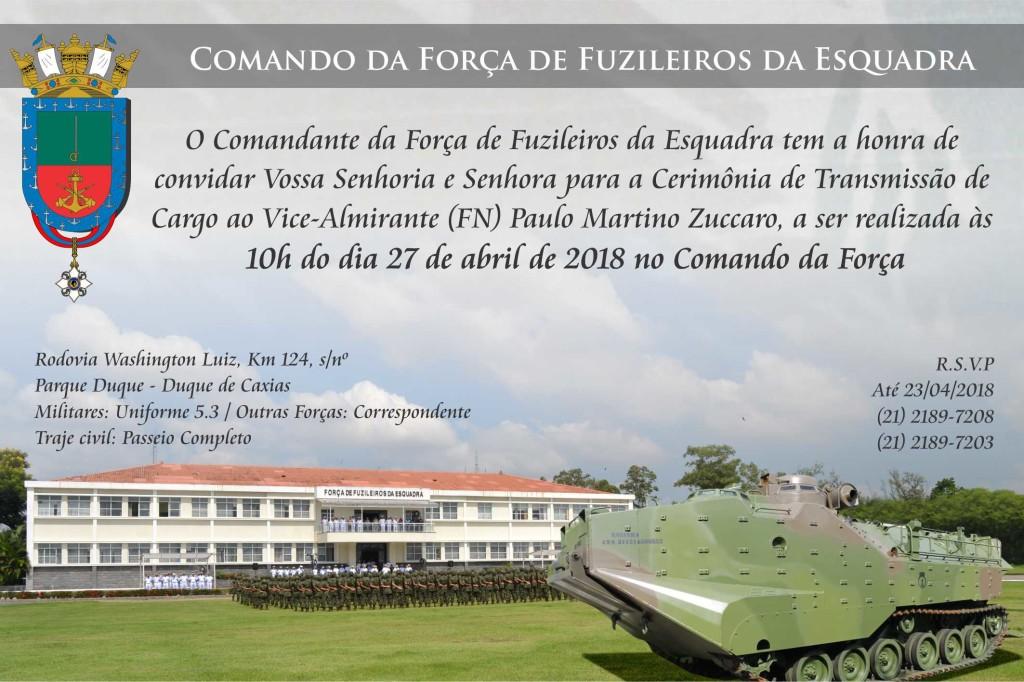 Convite Passagem de Comando FFE 2018 - V. Sa.